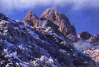 Southeast View of Rabbit Ear Spires in Winter - Eastern Organ Mountains, New Mexico